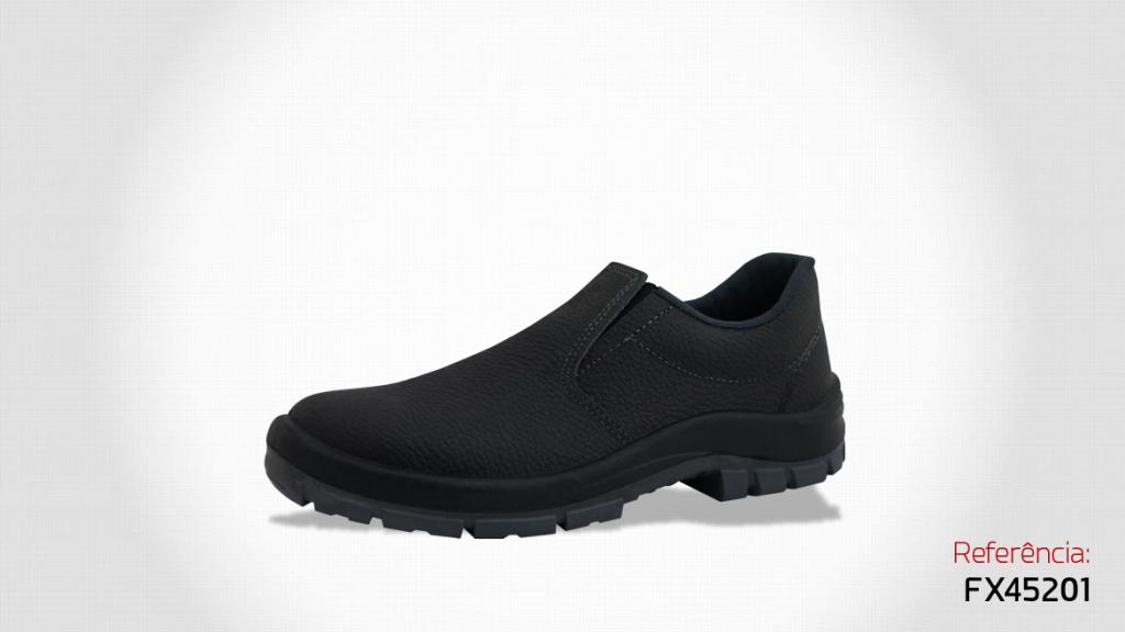 169207e353 Sapato em couro com Elástico Bico de PVC - Kadesh | USE EPI - A sua ...